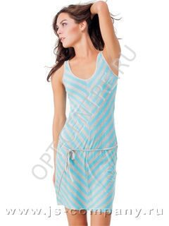 09b92f306441 Пижама LHD 373 KEY платье. Женская ночная сорочка с широкими бретелями и  глубоким U-образным вырезом, выполненная из мягкой эластичной вискозы с  узором « ...